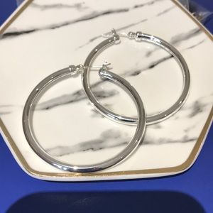 Touch Of Silver Hoops